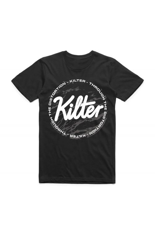 Through The Distortion Black Tshirt by Kilter