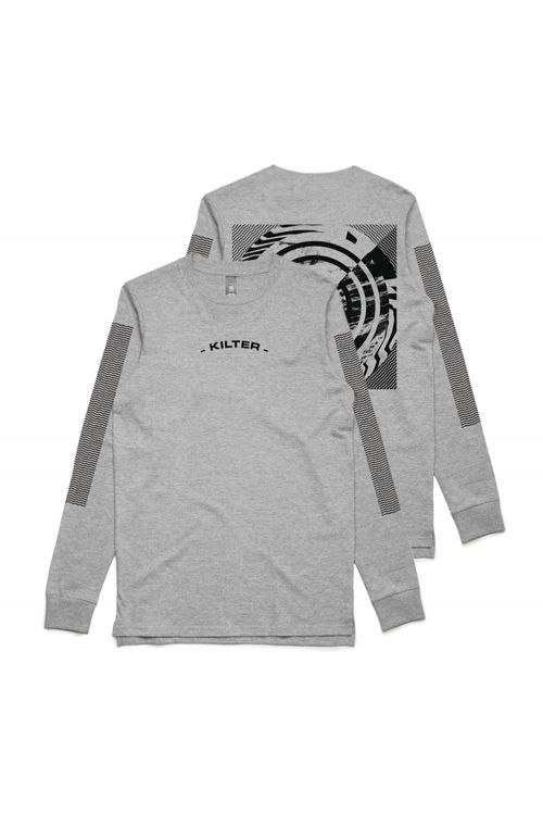 Through The Distortion Longsleeve Grey Tshirt by Kilter