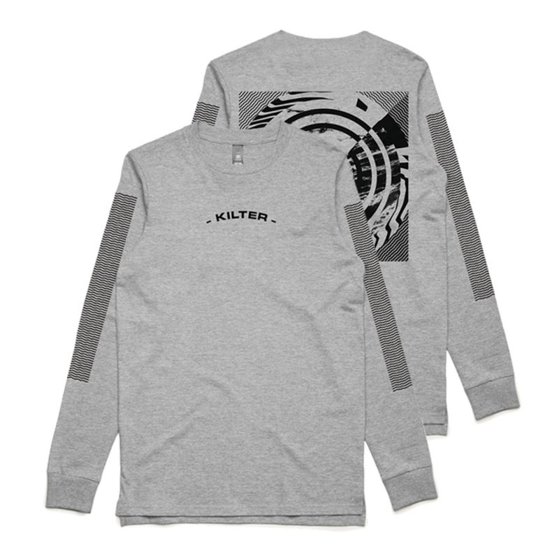 Through The Distortion Longsleeve Grey Tshirt